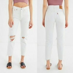 LEVI'S| Premium BIG E Wedgie White Fit NWT